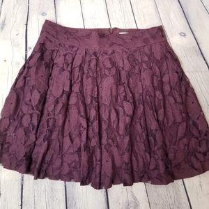 Loft lace skater skirt